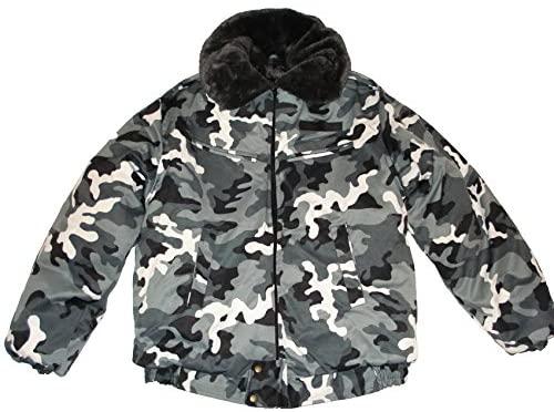 Modern Russian Military Winter Camo Jacket Uniform Snow Area Size 2XLarge XXL or 54