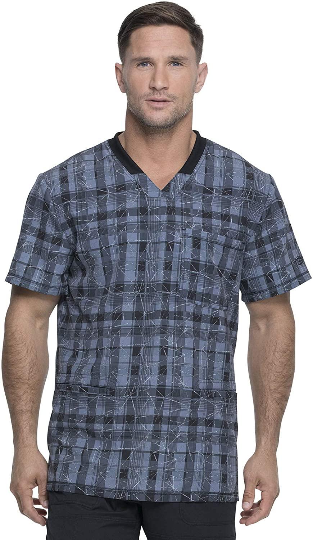 Dickies Men's Rib Knit V-Neck Scrub Top