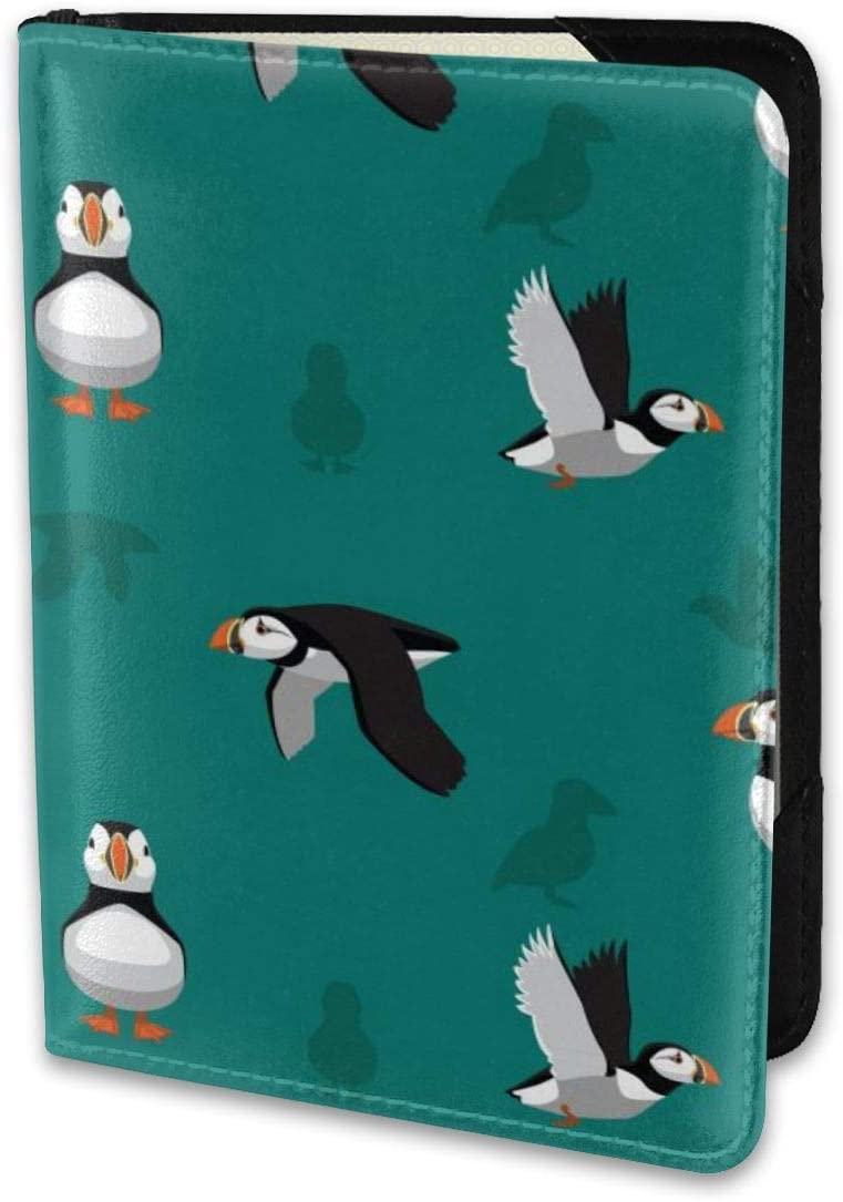 Puffin Birds Passport Cover Clear Plastic Vinyl ID Card Protector