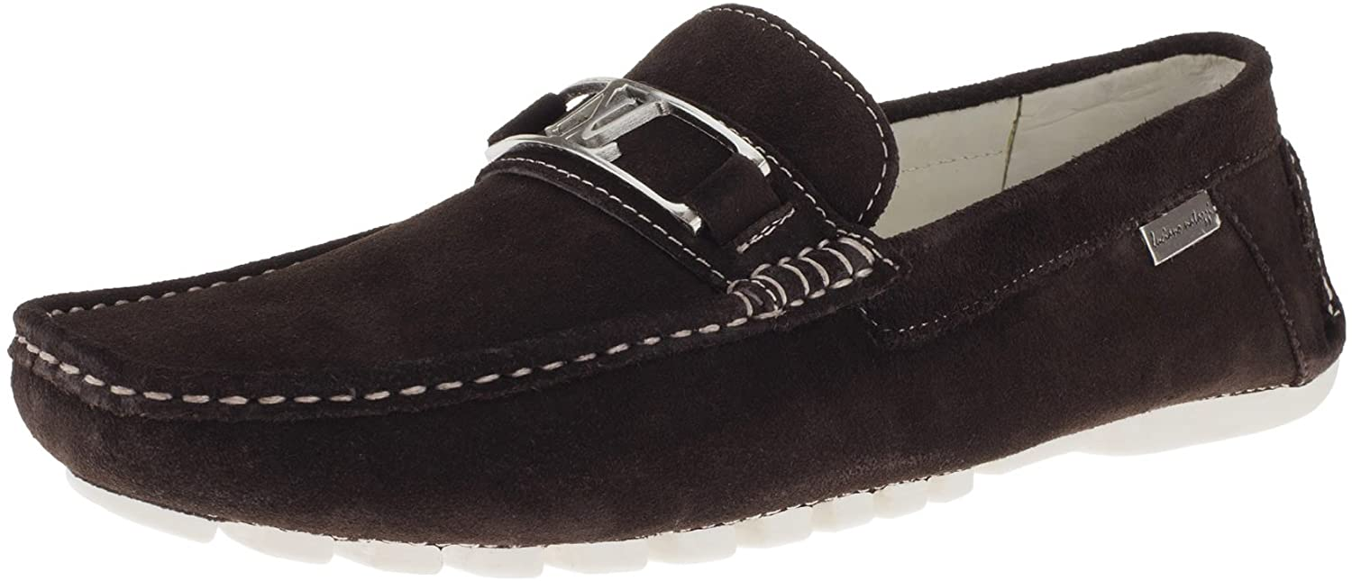 Luciano Natazzi Mens Driving Shoes Suede Leather Air Grant Penny Loafer