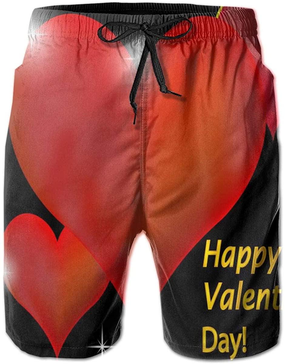 Lianmei Mens Swim Trunks Roses, Lilies Watercolor Mens Running Shorts,Gym Shorts for Men