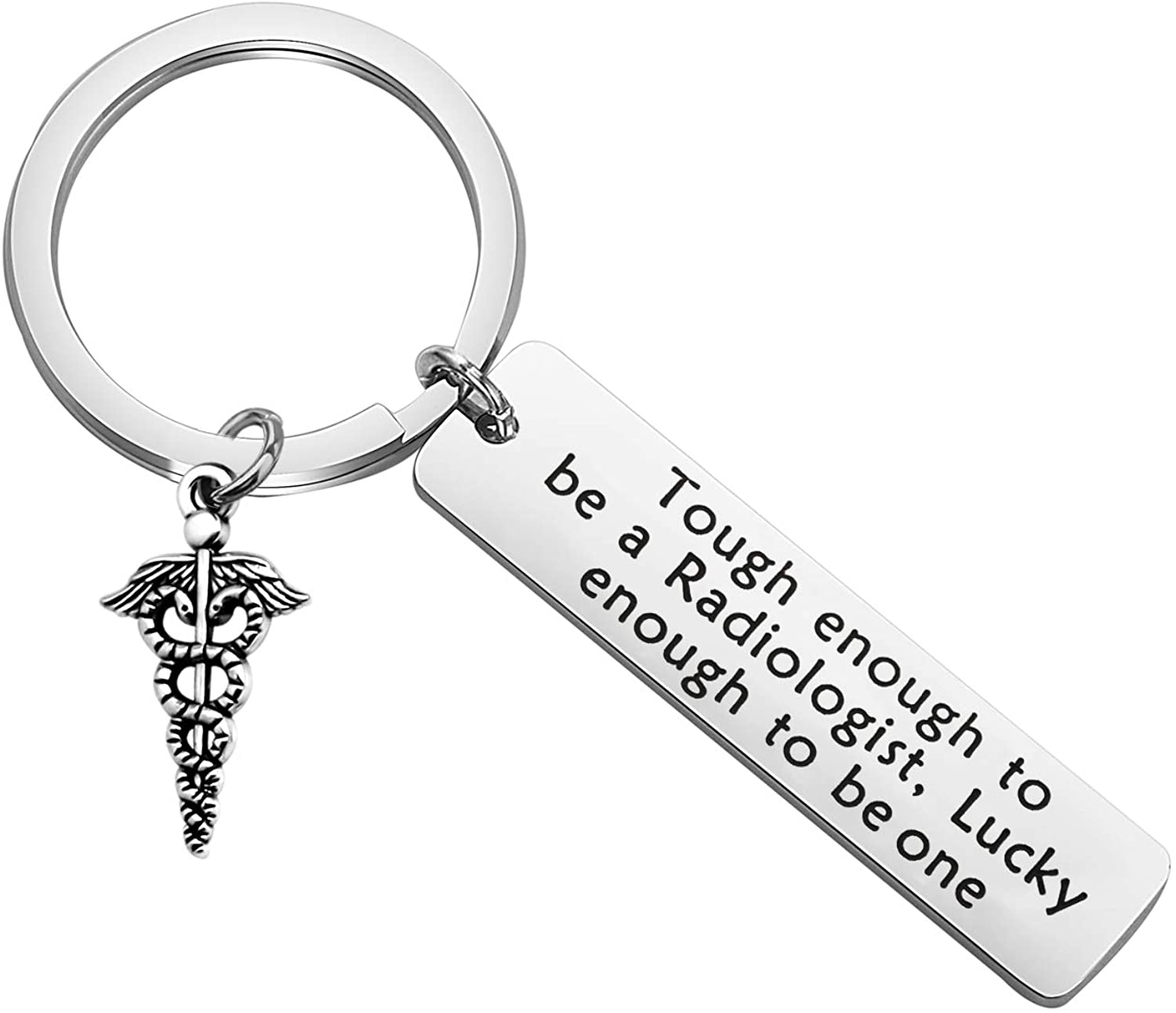 CENWA Radiology Gift Radiology Tech Jewelry Radiology Technician Gift Tough Enough to Be a Radiologist Lucky Enough to Be One Keychain