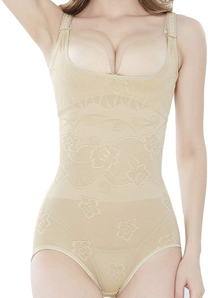 HTHJSCO Womens Thong Panties Bodysuit High Waist Tummy Control Body Shaper Thong Underwear
