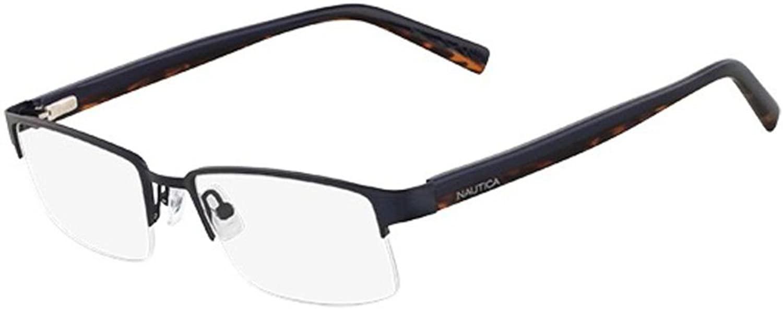 Nautica Eyeglasses N7229 040 Brushed Navy 53 18 140