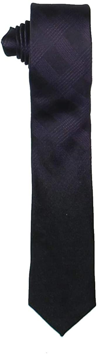 Calvin Klein Mens Fade Out Plaid Skinny Silk Tie