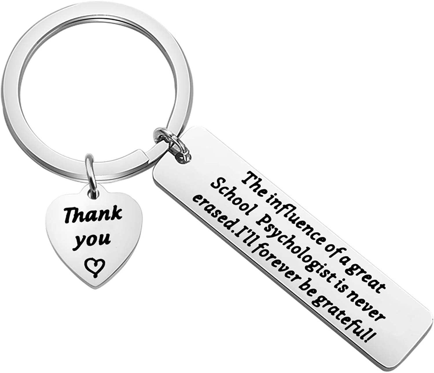 AKTAP School Psychologist Gift Psychologist Keychain The Influence of A Great School Psychologist is Never Erased Psychological Counselor Jewelry