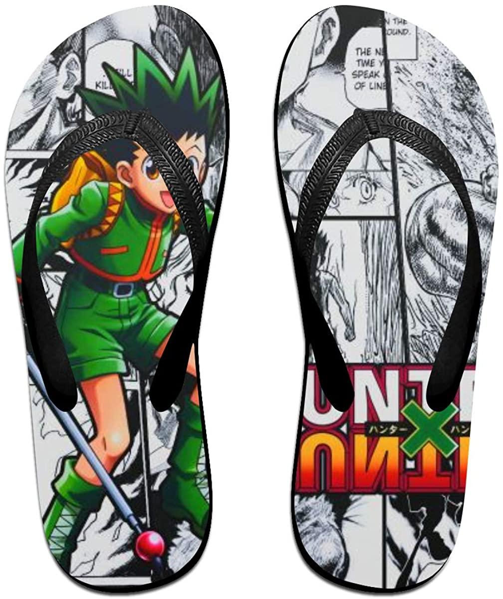 Hunter X Hunter Anime Flip Flops Beach Sandals Thong Slippers for Indoor Outdoor Bathroom Shower