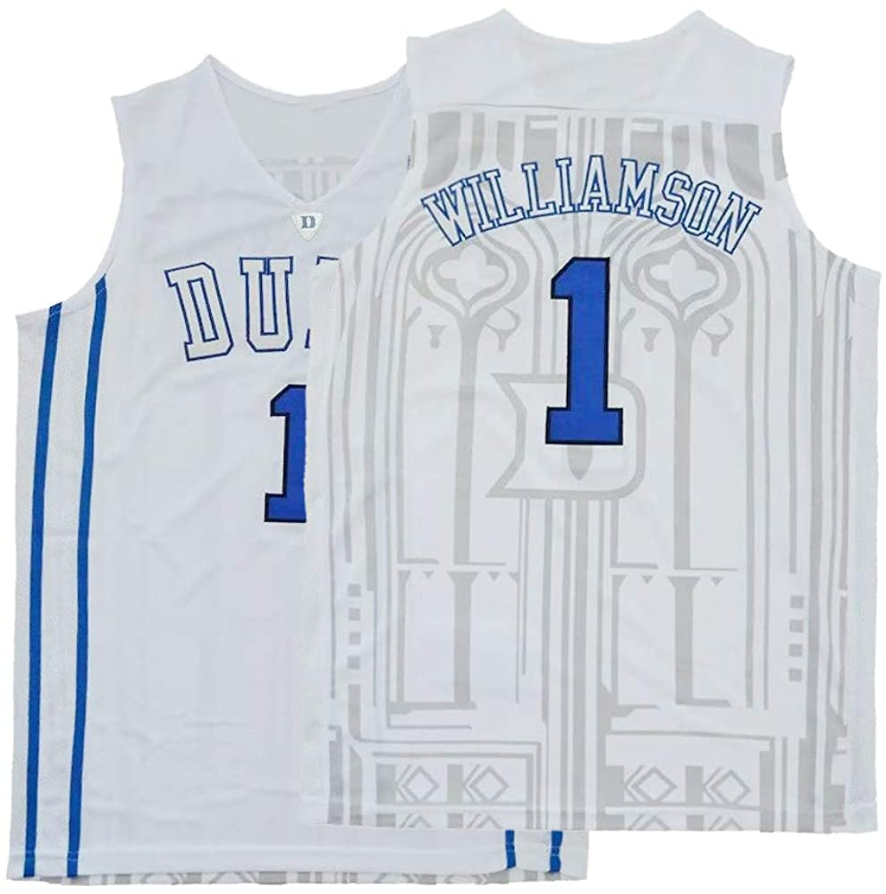 Plkhey Men's Williamson Jerseys 1 Basketball Shirts College Sports Athletics Adult High School