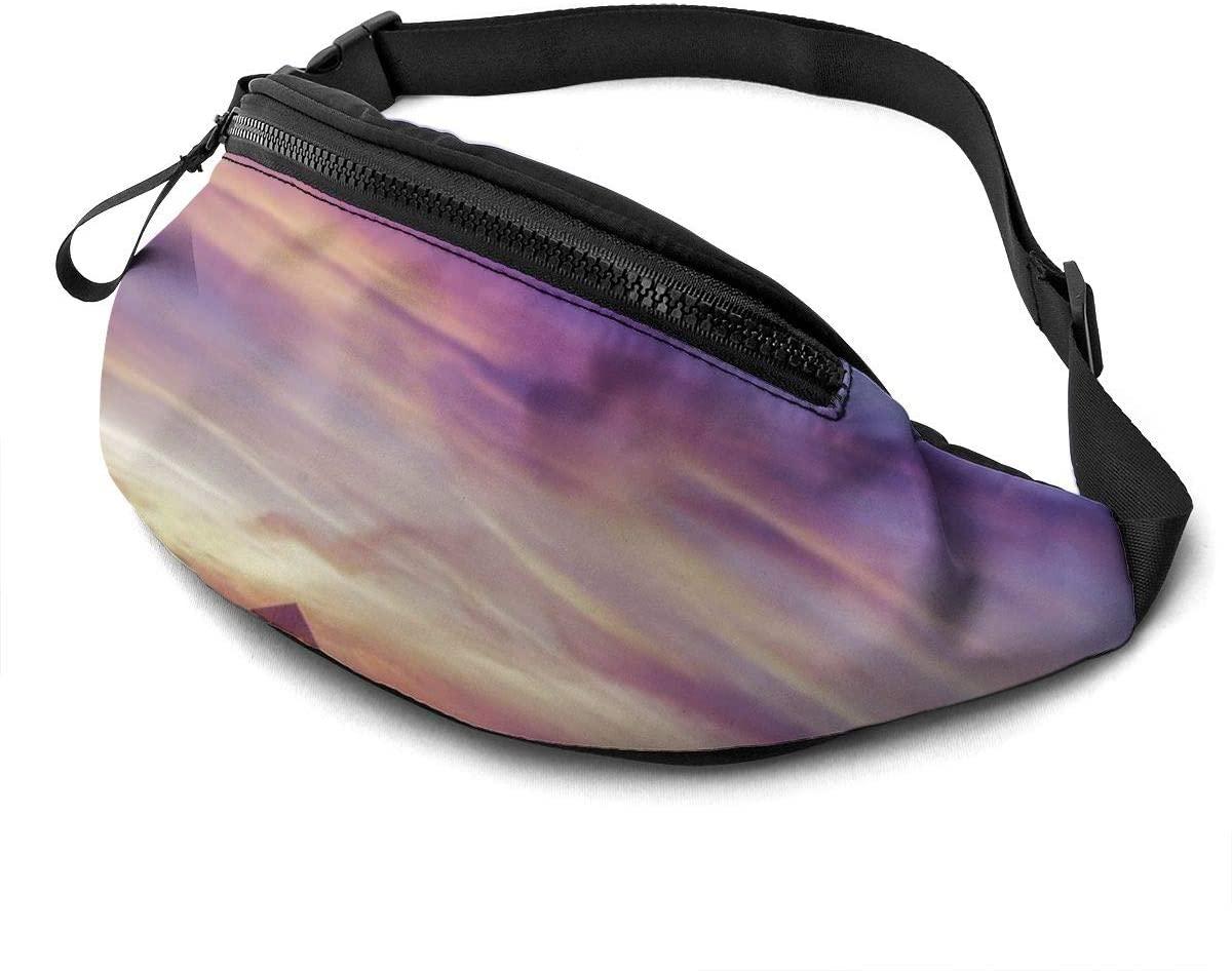 Pier Sunrise Sky Cloud Sea Fashion Casual Waist Bag Fanny Pack Travel Bum Bags Running Pocket For Men Women