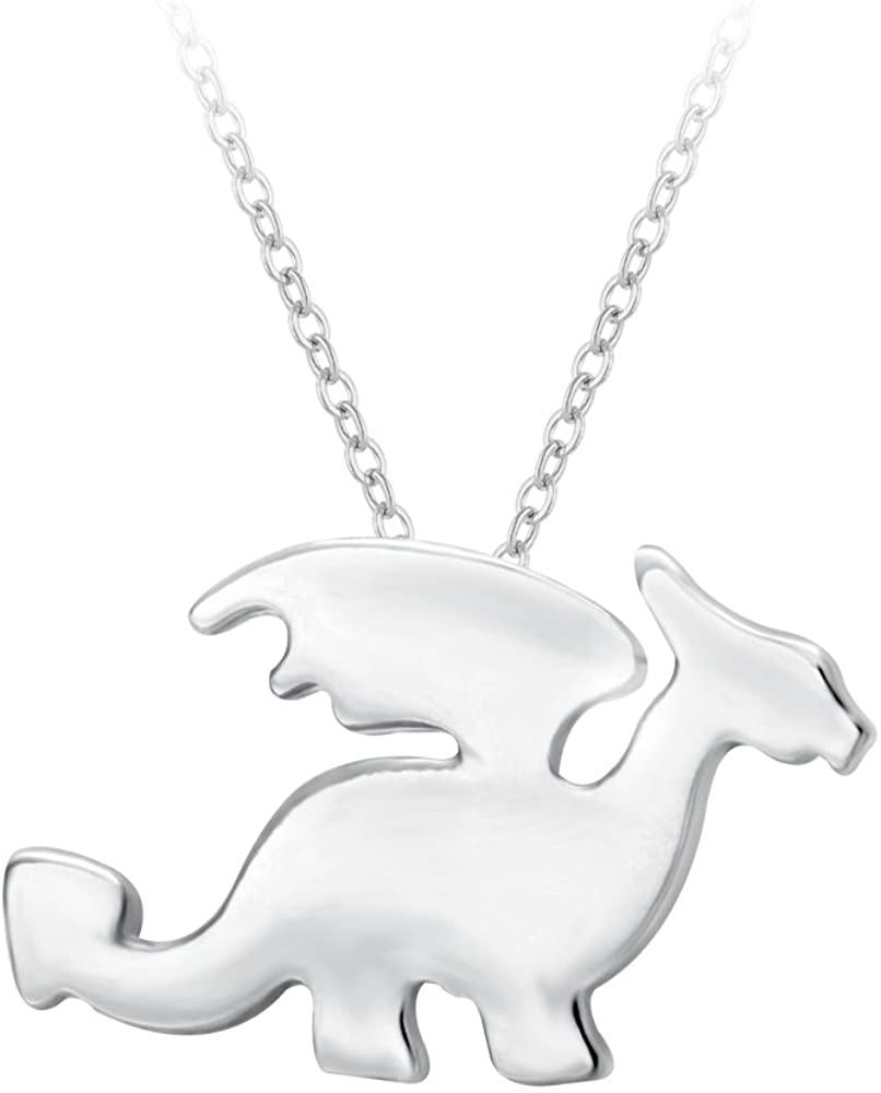 SENFAI Pterosaur Dragon Animal Charm Pendant Necklace Handmade Jewelry 18 in