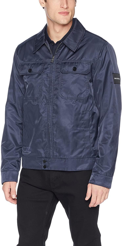 Calvin Klein Jeans Men's Harrington Jacket with Chest Pockets, Night owl