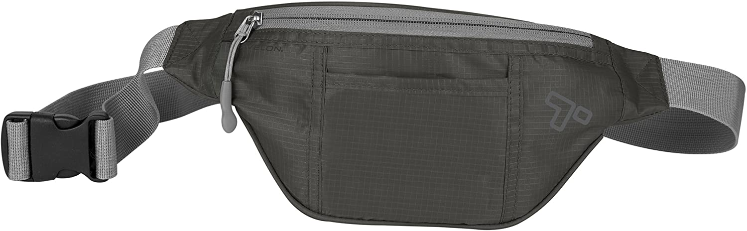 Travelon Top Zip Waist Pack, Charcoal, One Size