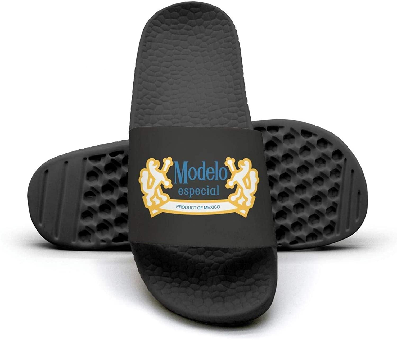 djsdsok Modelo-Beer-Logo- Mens Sandals Shoes Fashion Anti-Slip Flip Flops