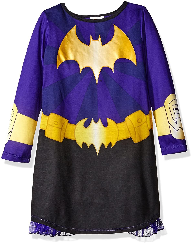 DC Comics Girls' Big Batgirl Dc Hero Long Sleeve Dorm with Cape