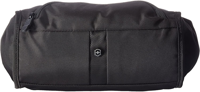 Victorinox Lumbar Pack Waist Tote with RFID Protection, Black/Black Log, 6-inch