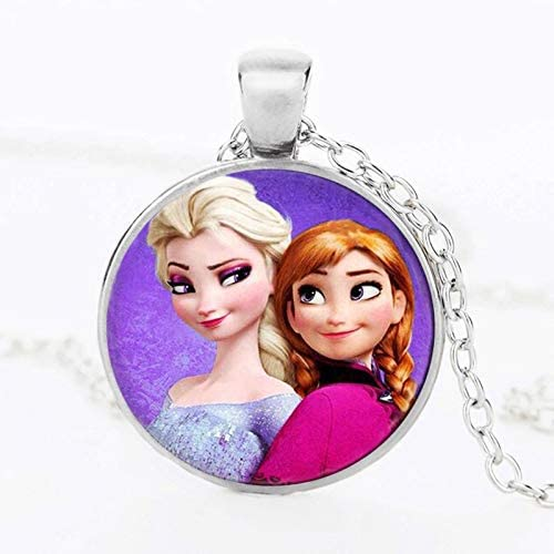 Necklace Fashion Cartoon Round Crystal Jewelry Pendant Necklace Girl Gifts