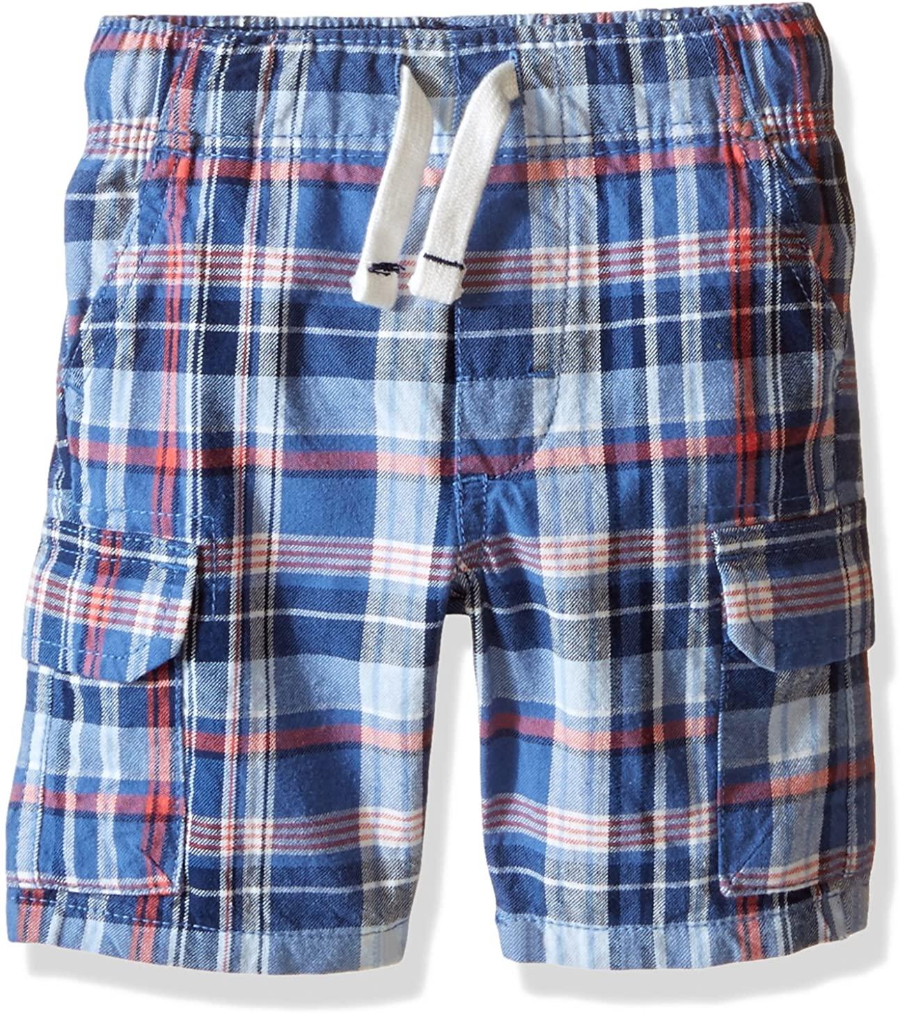 Carter's Boys' Plaid Canvas Shorts 248g176