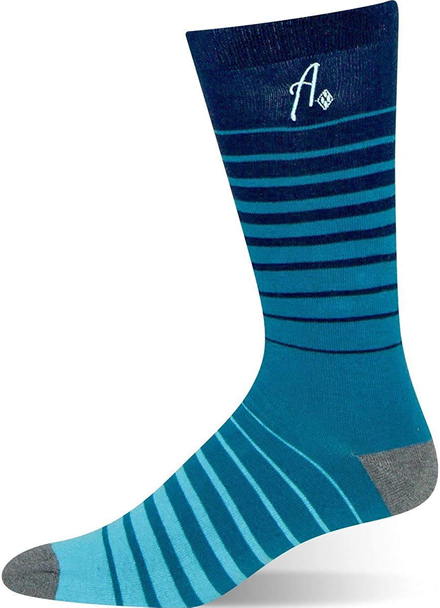 Argoz Mens Ocean Swell Blue Striped Sock