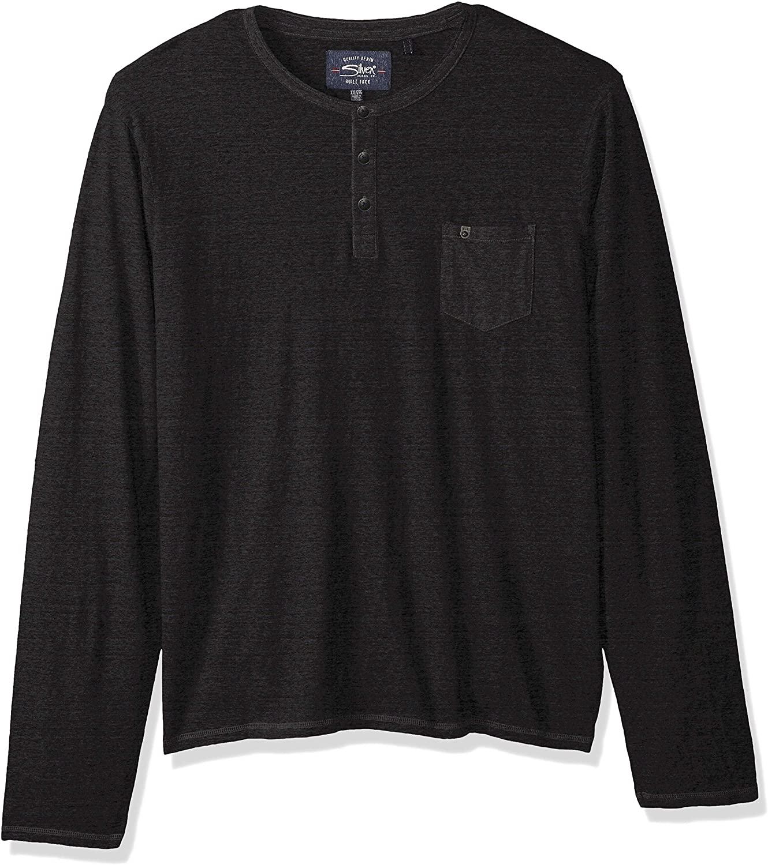 Silver Jeans Co. Men's Long Sleeve Heather Henley