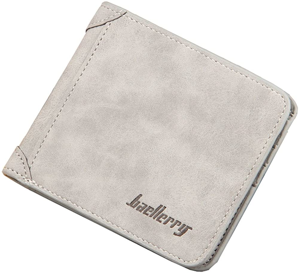 Men's Bifold Wallets Vintage Leather RFID Blocking for Credit Card and Sim Card