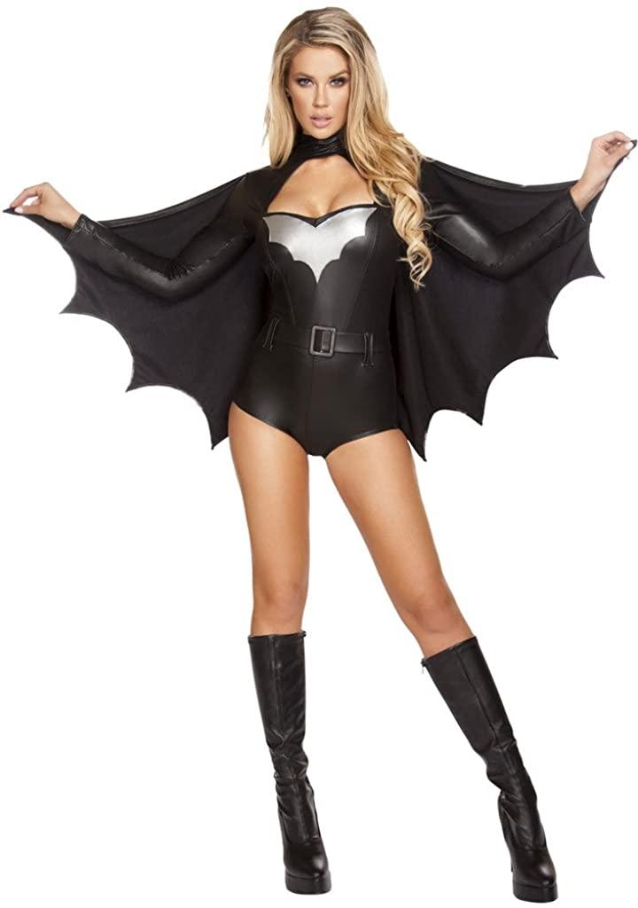 Musotica Sexy Bat Romper Halloween Costume
