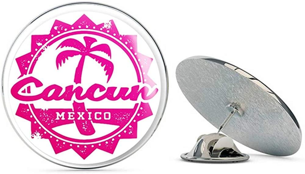 Cancun Mexico Round Metal 0.75