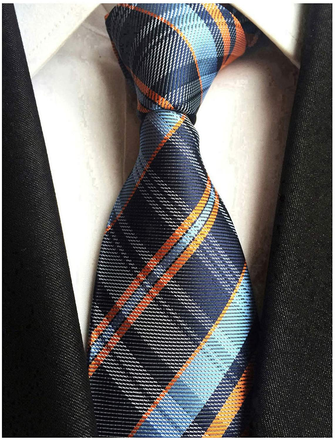 Men's Gingham Check Stripe Ties Pattern Business Formal Designer Neckties 3.15