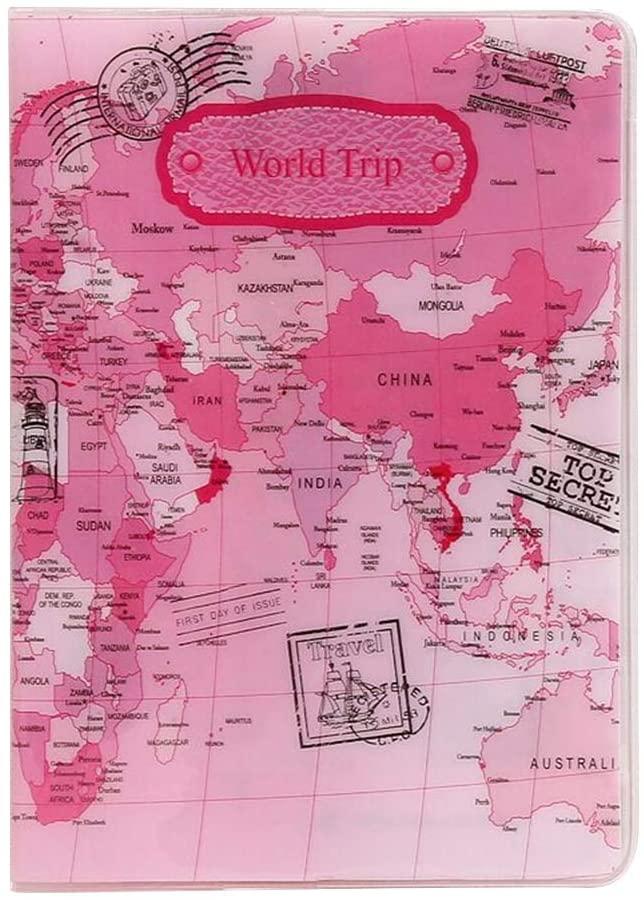 LIOOBO World map passport cover case holder & wallet for men & women