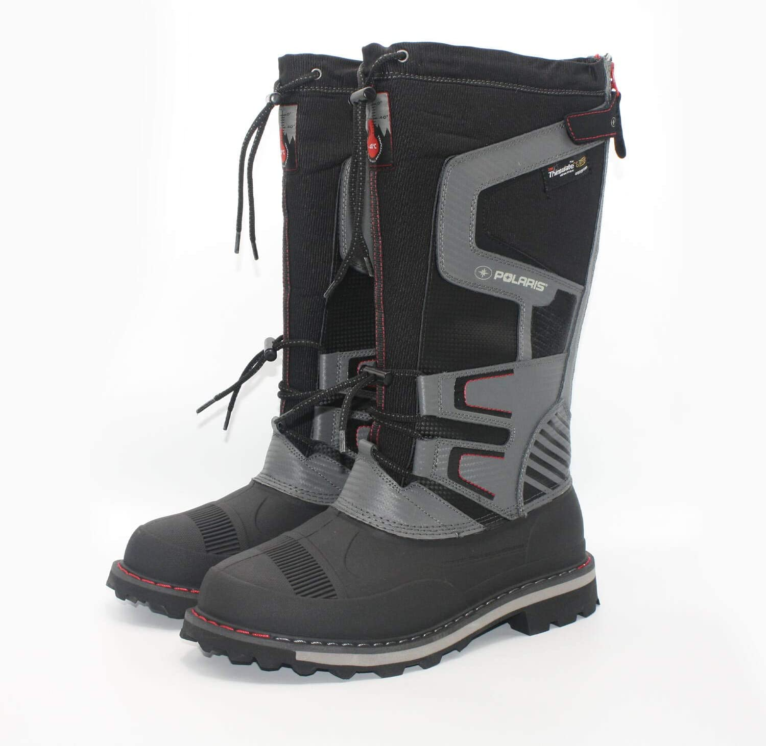 Polaris Mens Snowmobiling Drift Master Boot with 3M Thinsulate Insulation, Black - 11