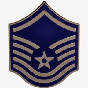 Veteran Pin U. S. Air Force Master Sergeant E7 Hat or Lapel Pin 1 7/16