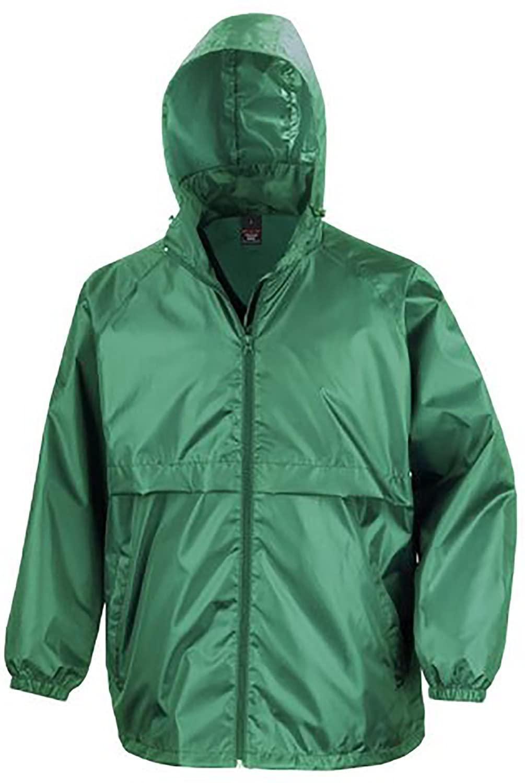 Result Mens Core Adult Windcheater Water Windproof Jacket (S) (Bottle Green)