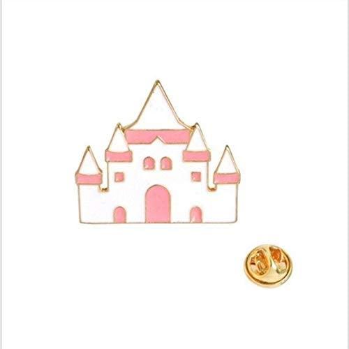 Harva Brooches - 2018Fashion Cartoon Creative Magic Hat Castle Tea Cup Teapot Crown Love Heart Drop Brooch Personality Backpack Shirt Lapel Badge - (Metal Color: style-10)