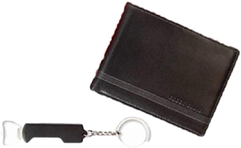 Perry Ellis Mens Corkscrew Bifold Wallet