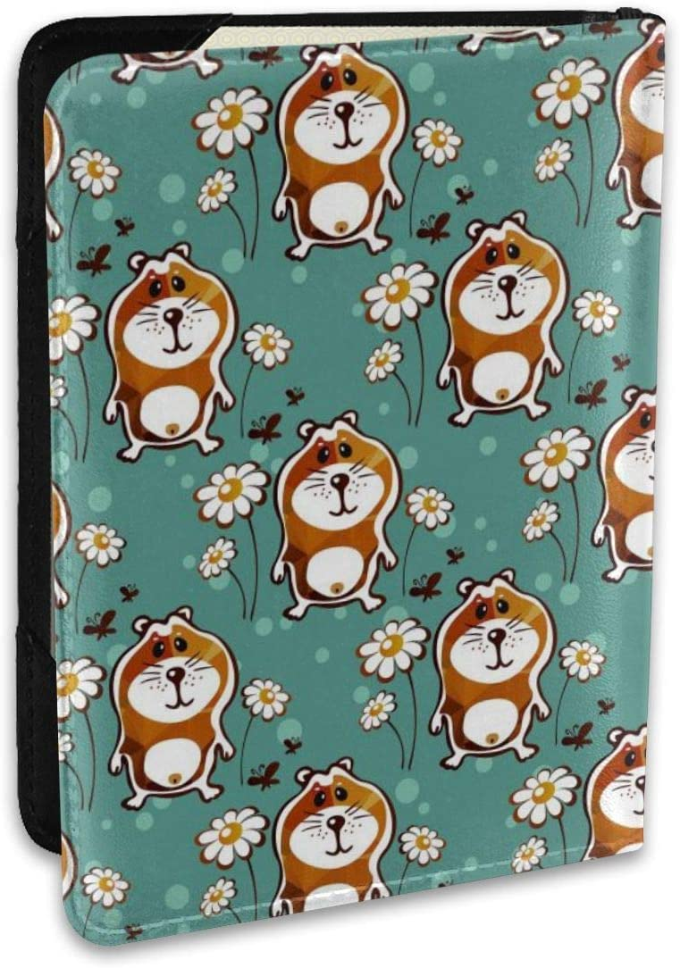 ALXX-HUAW Lovely Hamsters Land Delicate Passport Holder,Leather Passport Holder,Male and Female Size 6.5x4.5in