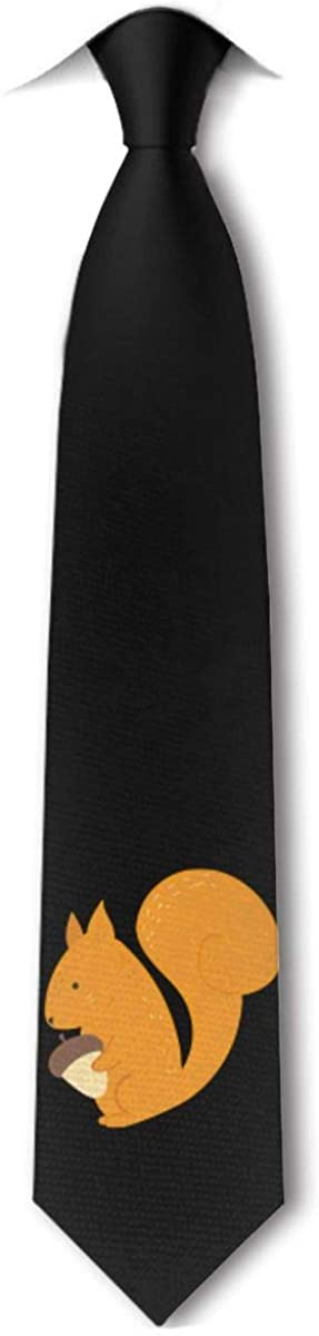 Acorns And Squirrels Men's Tie Hipster Skinny Neckwear Leisure Neckties