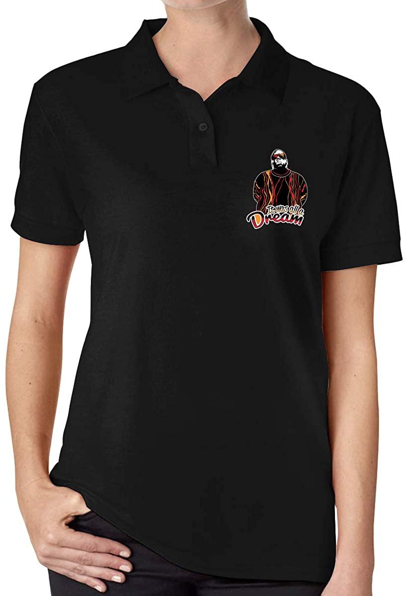 The Notorious B.I.G Women's Slim Polo Shirt Short Sleeve T-Shirt