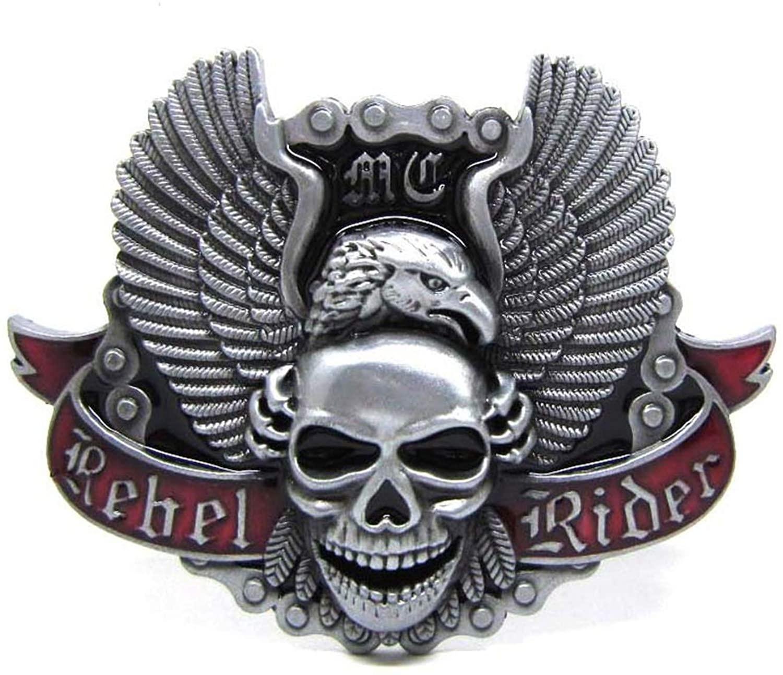 Angel Skull Eagle Rider MC Motorcycle Club Belt Buckle