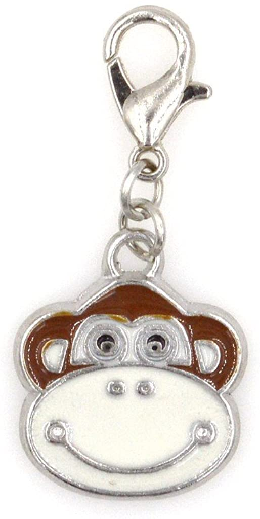 It's All About...You! Enamel Monkey Clip on Charm Perfect for Necklaces and Bracelets 98E