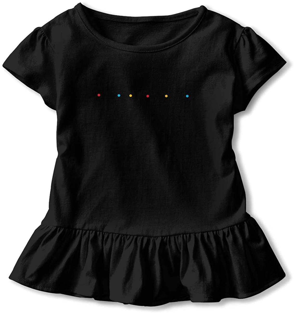 AHUAHUA Kids Friends Logo Toddler Short Sleeve T Shirt Children Girls Cotton Graphic Tee Soft Dress (2-6T)