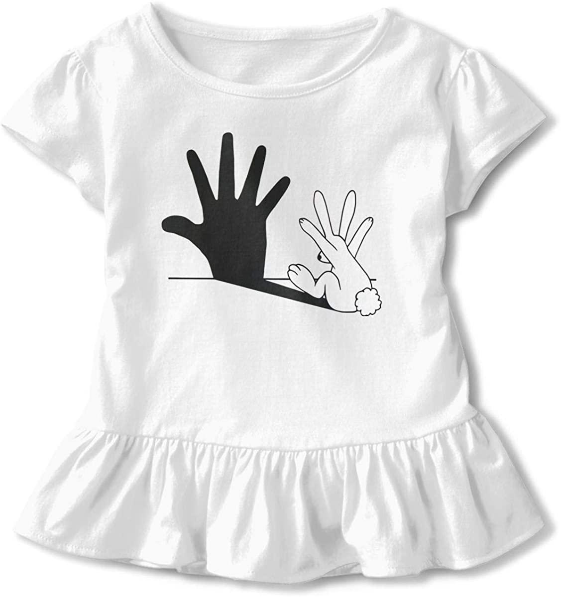 Funny Rabbit in Red Children's Short Sleeve T White