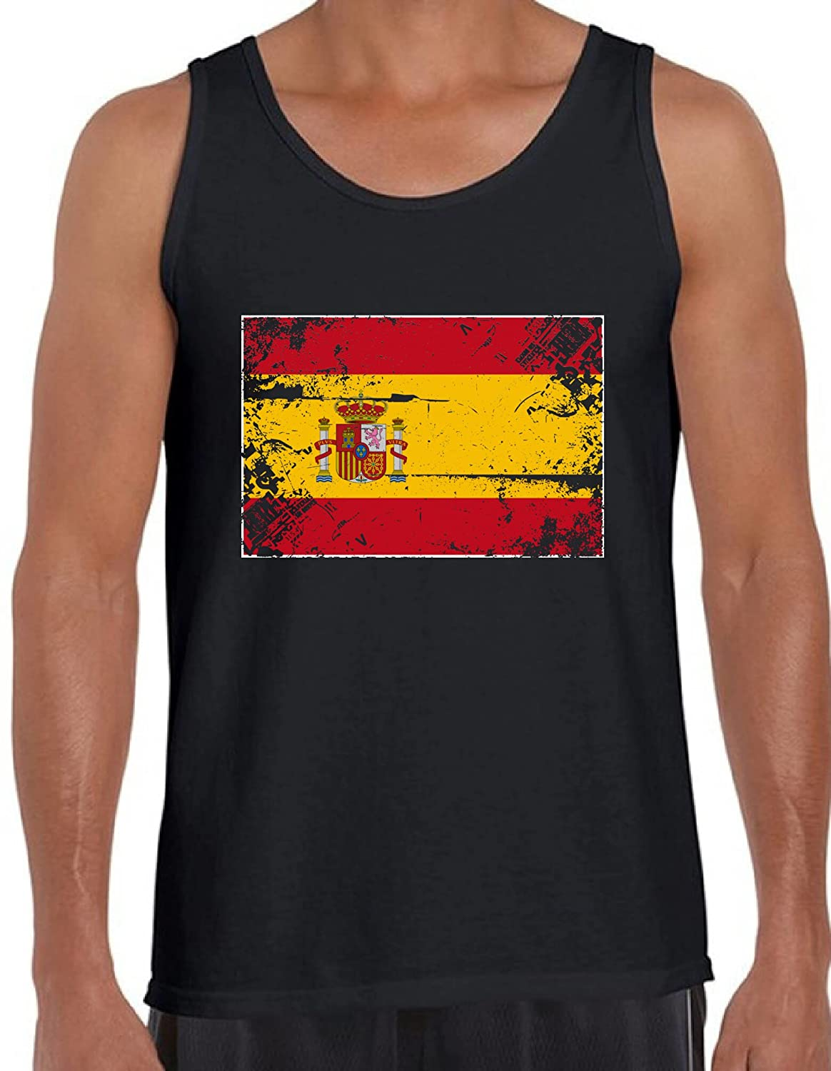 Awkward Styles Spain Flag Tanks for Men Spain Tank Top from Spain Gifts for Him