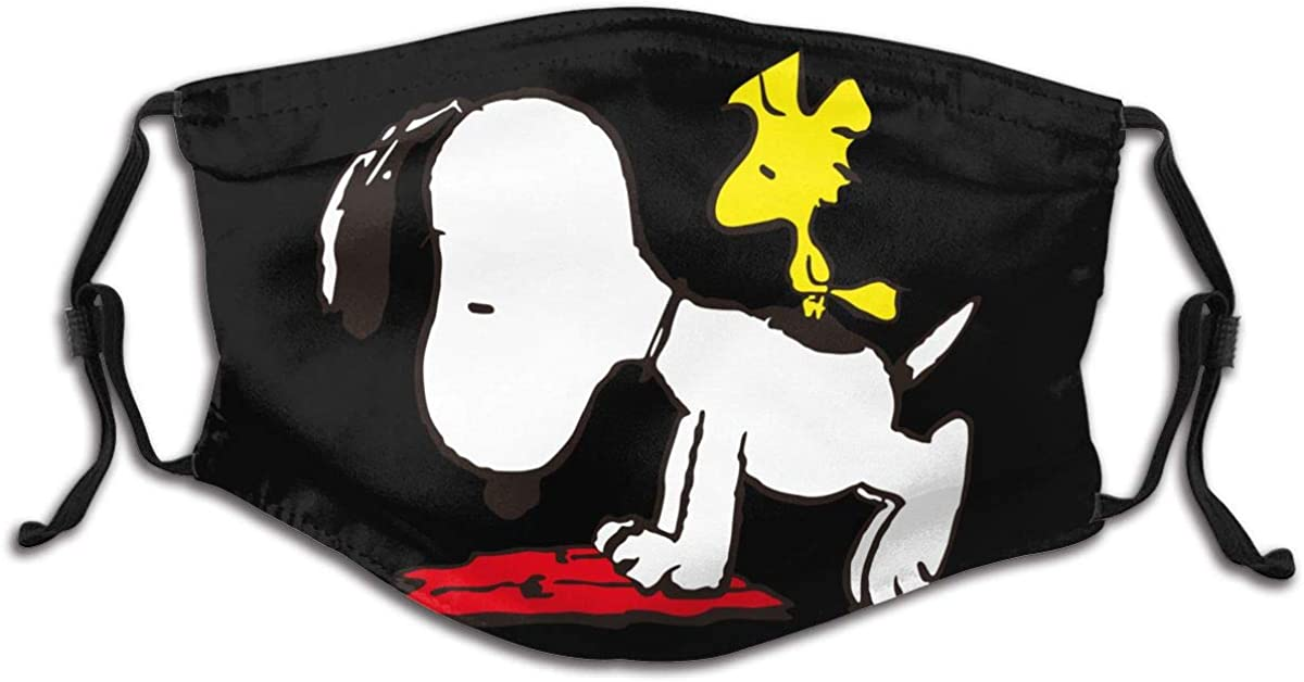 Peanuts Snoopy Child Dust Mouth Mask With Carbon Filter - Washable Reusable Face Mask