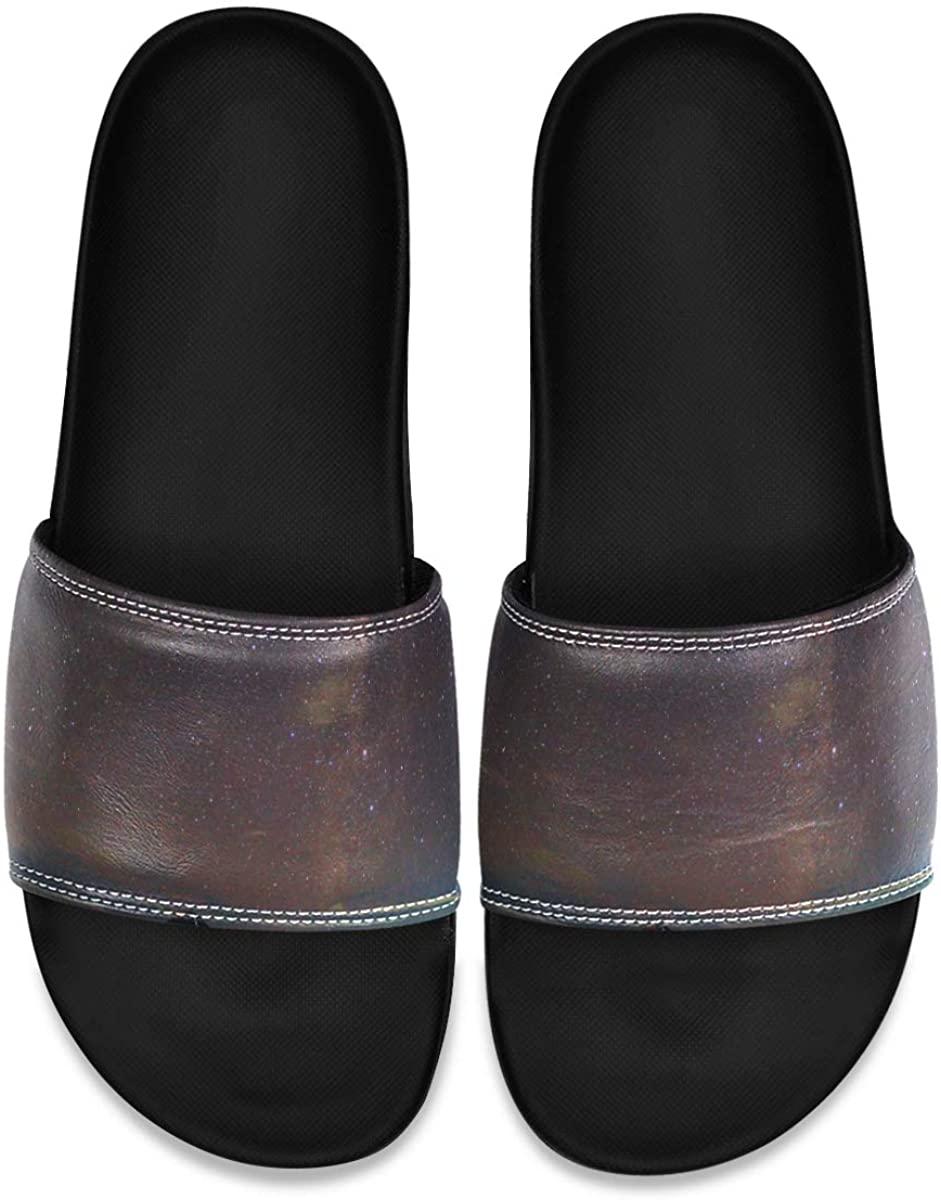 Men's Shower Slides Summer with Flowers Vector Slide Sandal, Slippers, Sandals for Men