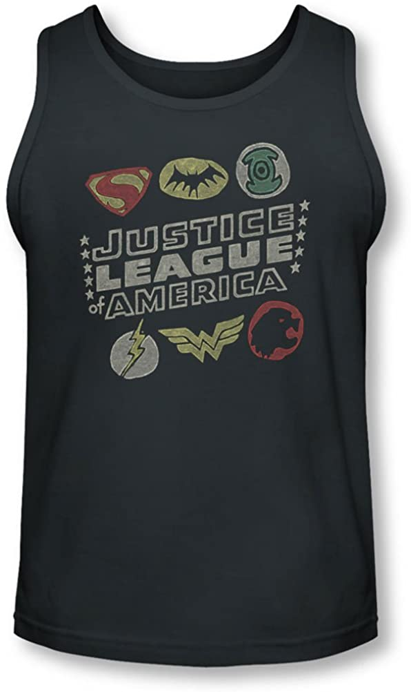 Jla - Mens Symbols Tank-Top