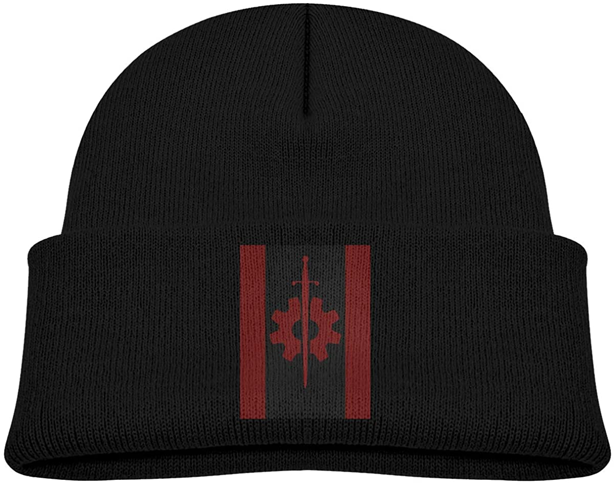 Alin-Z Fallout Flag of The Brotherhood Outcasts Toddler's Beanie Cuffed Knit Hat Cotton Skull Cap