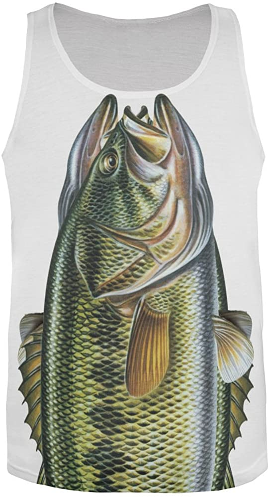 Big Bass All Over Adult Tank Top