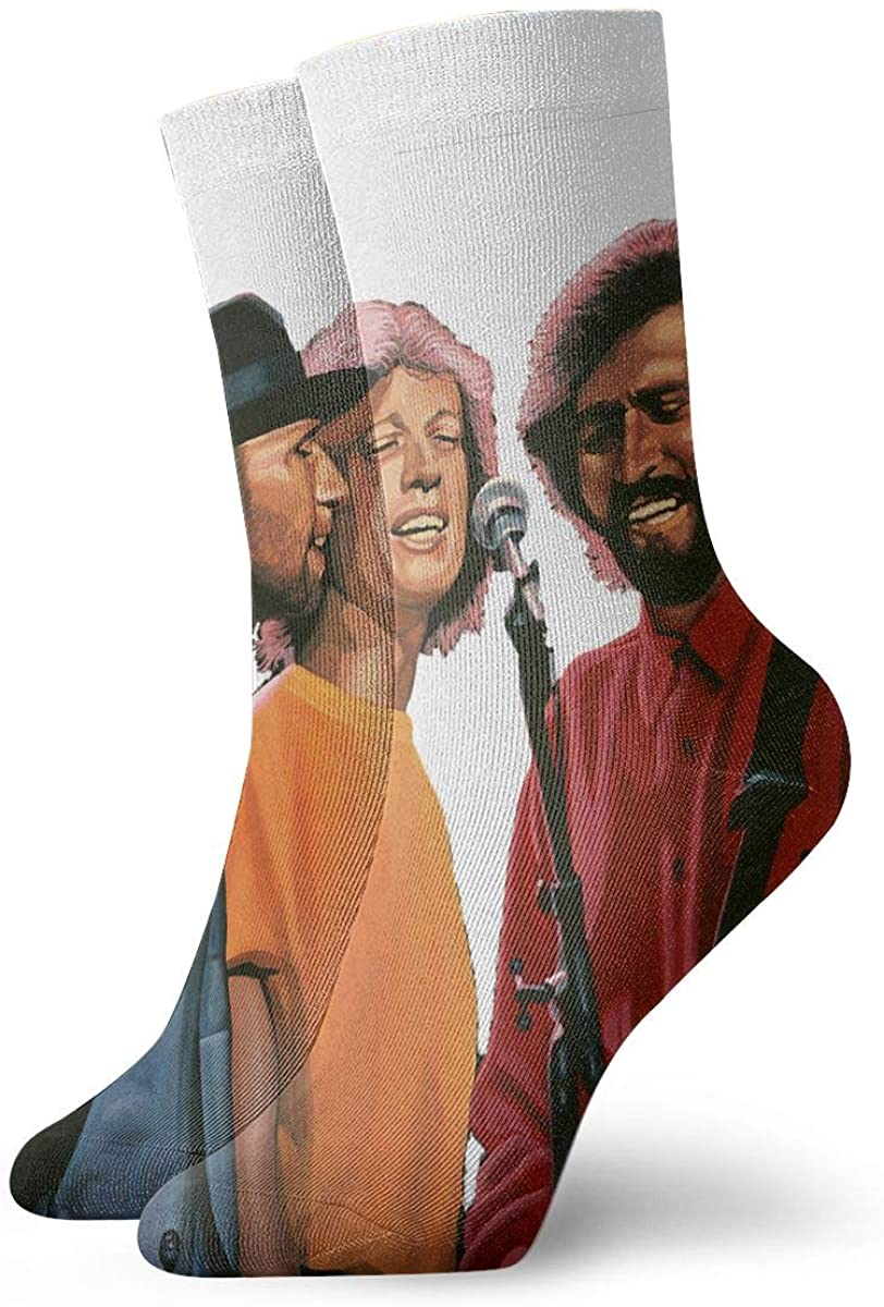 Bee Gees Men's Cotton Work Gear Crew Socks Cushioned, Wicking, Durable