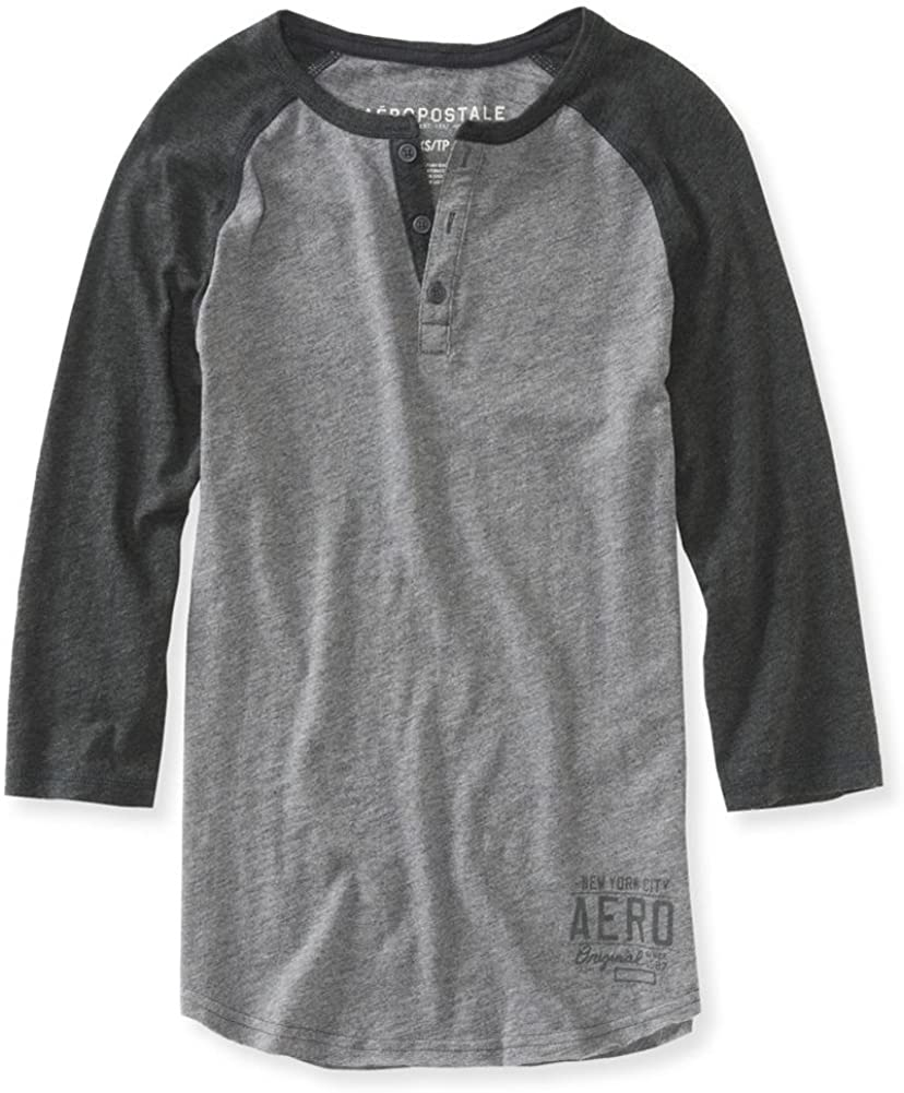 AEROPOSTALE Mens Two Tone Henley Shirt
