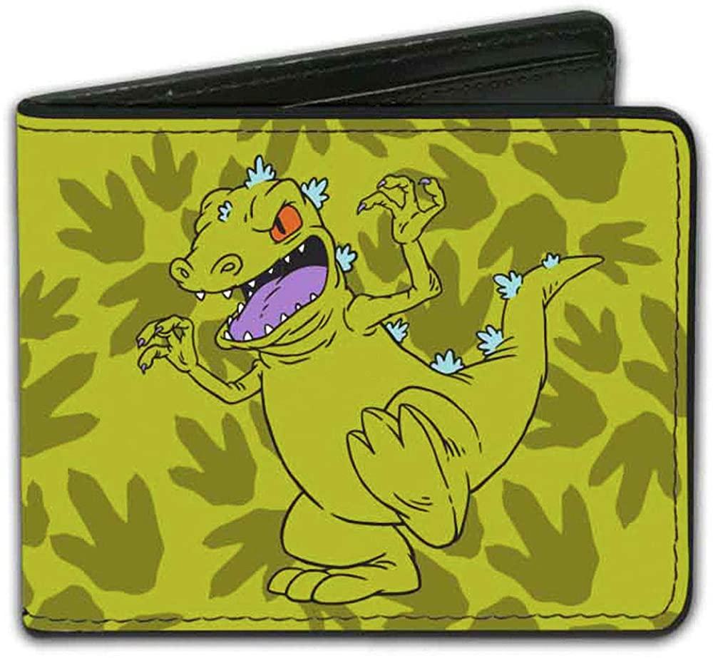 Buckle-Down Men's Bifold Wallet Rugrats, 4.0