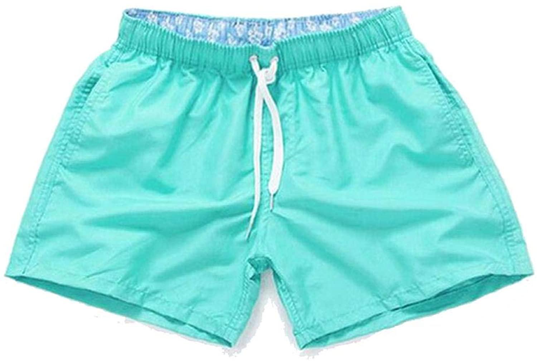 Spinning Mens Briefs Swimming Trunks Men Beach Swimwear Solid Quick Dry ShortsBoxer Surf Board Wear-Cyan-XXL